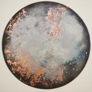 France 4 Lost in Low Cloud 3 etching with rose gold leaf