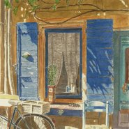 004: Window at Arles (watercolour), 43 x 31cm, framed, £350