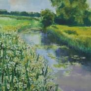 002: By the river (mono print), 44 x 34cm, £295