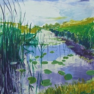 005: Water lilies and grasses (mono print), 44 x 34cm, £295