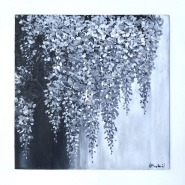 005: Wisteria (oil on board mounted on wood), 60 x 60cm, £400