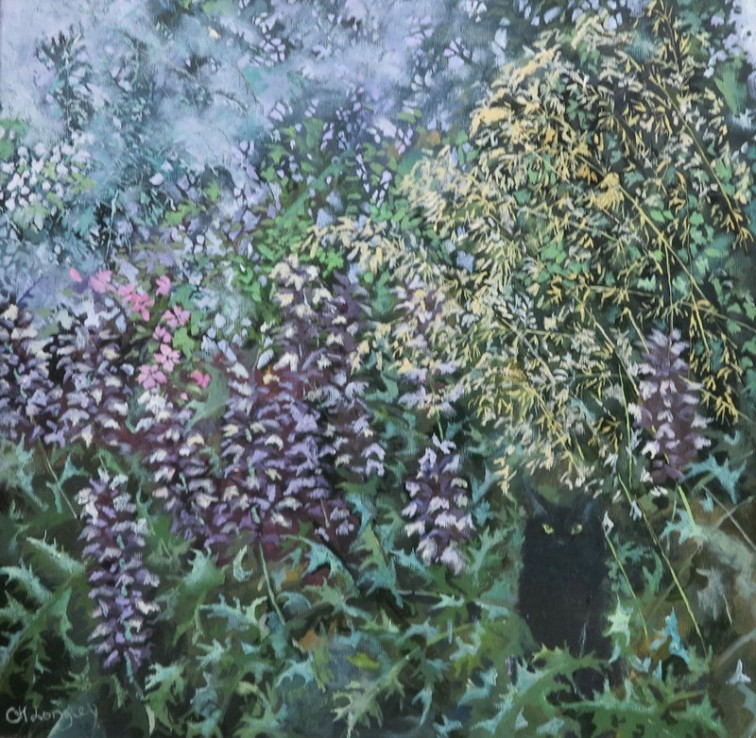 Claire Longley _Hauteur in the Border_Oil on Canvas_ 60 x 60 cm _ £425 unframed