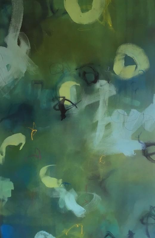 Davis 'It's Because' £475 (oil on canvas) 64cmx100cm framed Sue Davis