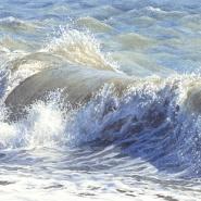 005: Blue shadows (watercolour and graphite pencil), image 15.5 x 28.5cm, framed 37.5 x 49cm, £625