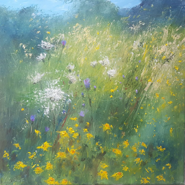 Gooch Scattering Seeds,60x60cm,Oil on Canvas,£1200