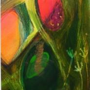 002: Matrix II (gouache and binder), image 18 x 24cm, framed 30 x 37cm, £200