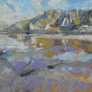 005: Sandymouth Bay (oil), 21 x 30cm, unframed £360, framed £400