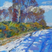 002: Snow Ashdown forest (oil), 42 x 30cm, unframed £500, framed £550