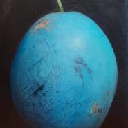 005: Blue damson (oil on canvas), 25 x 20cm, £325