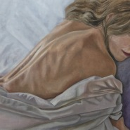 004: Sleep (oil on linen board), 45 x 41cm, framed, £425