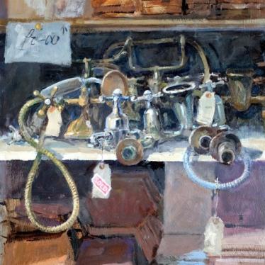 002: Reclamation row (oil), 40 x 30cm, £595
