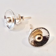 005: Dots earrings, gold and silver, £325