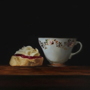 002: Cornish cream tea (limited edition print), 40.5 x 30.5cm, £95 (SOLD - MORE AVAILABLE)