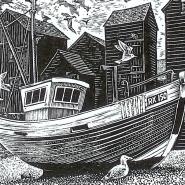 004: Hastings (wood engraving), 70 x 55mm, £25
