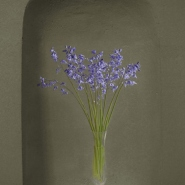 002: Beauty in isolation - bluebells (mixed media), 55 x 70cm, framed, £750