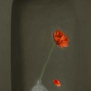 003: Beauty in isolation - poppies (mixed media), 55 x 70cm, framed, £750