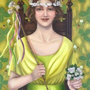 004: 1912, The May queen (oil on linen), 75 x 55cm, framed, £1200
