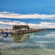 002: Whitstable harbour (print), 40 x 28cm, £85