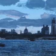 003: The City of London, dusk (print), 40 x 28cm, £85