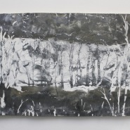 002: Cutting (emulsion on galvanised steel with drawing scratched into surface), 80 x 45cm, £400