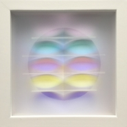 002: Colour box XII (dichroic glass), 15 x 15cm, framed, £180