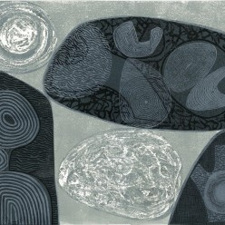003: Stones by moonlight, edition of 60 (linocut print), 40 x 50cm, unframed, £210
