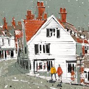 002: Sevenoaks High St (acrylic and ink, limited edition print), 480 x 220mm, unframed, £80