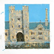 003: Knole house (acrylic and ink, limited edition print), 290 x 290mm, unframed, £60