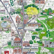 004: Sevenoaks map (acrylic and ink, limited edition print), 340 x 500mm, unframed, £70
