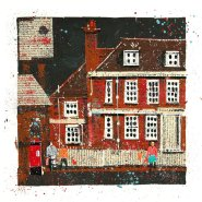 005: The Red House (acrylic and ink, limited edition print), 290 x 290mm, unframed, £60