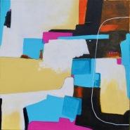 003: Emergence (acrylic), 40 x 40cm, on box (deep edge) canvas, £250