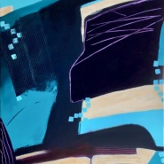002: An Encounter (acrylic), 61 x 51cm, on box (deep edge) canvas, £285