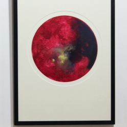 Lunar Rouge 50cm x 70cm unique etching with gold dust £395 U/F £450 framed