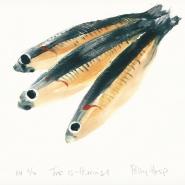 005: Trio of herrings, edition 3 of 10 (monoprint), 265 x 220mm, unframed, £100