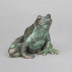 002: Bronze frog (bronze), unlimited edition, life size, £150 (SOLD - MORE AVAILABLE)