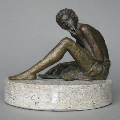 003: Ian reading on the millstone (bronze), edition 10 of 10, 13 x 10cm, £550 (stone not included)